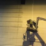Building Cleaning at Night
